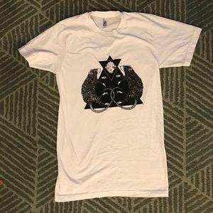 Rat Skull Xlong small t shirt